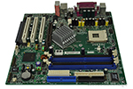 System board without processor or memory, with 10/